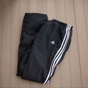Men's three stripe Adidas pants